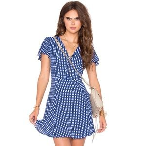 Privacy Please Amsterdam Mini Dress Blue Gingham
